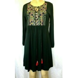 NWT Label Ritu Kumar Indie Craft Short Dress Green